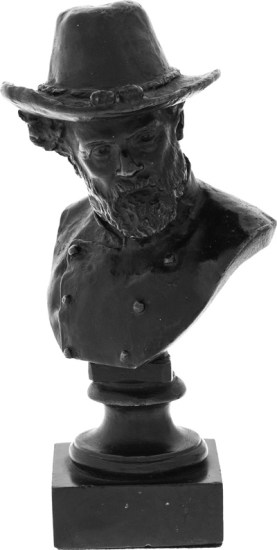 bronze bust of Robert E. Lee