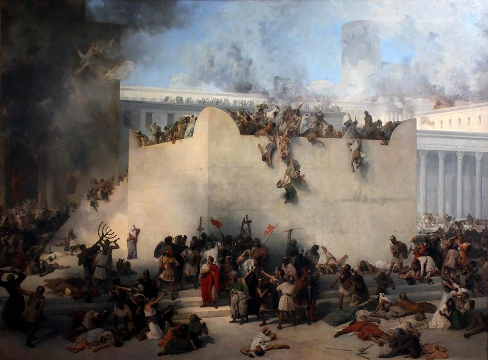 """""""Destruction of the Temple of Jerusalem,"""" by Francesco Hayez (1867)."""