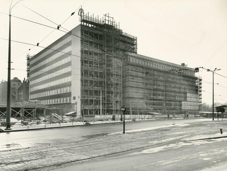 Bauarbeiten, ca. 1967, Foto: Brüggemann