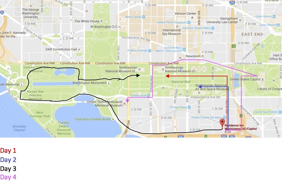 DC Trip Map