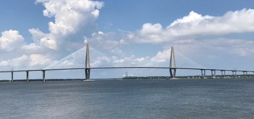 Great View of the Ravenel Bridge from the SC Aquarium