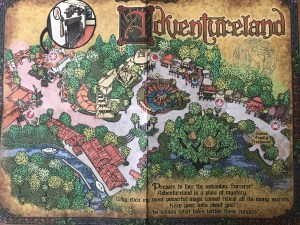 Andventureland Map in Sorcerers of the Magic Kingdom