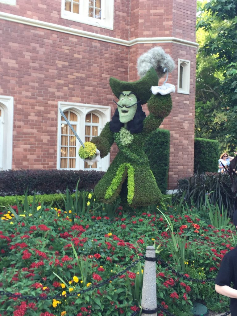 Captain Hook at Epcot Flower and garden