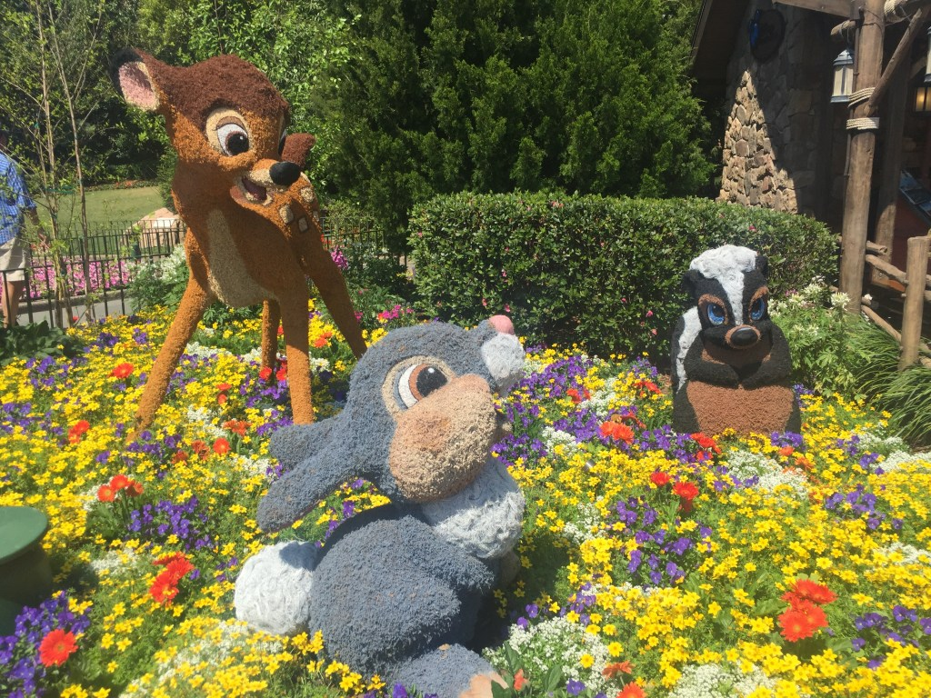 Bambi at Epcot Flower and Garden Festival