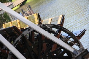 Paddle-Wheel on riverboat