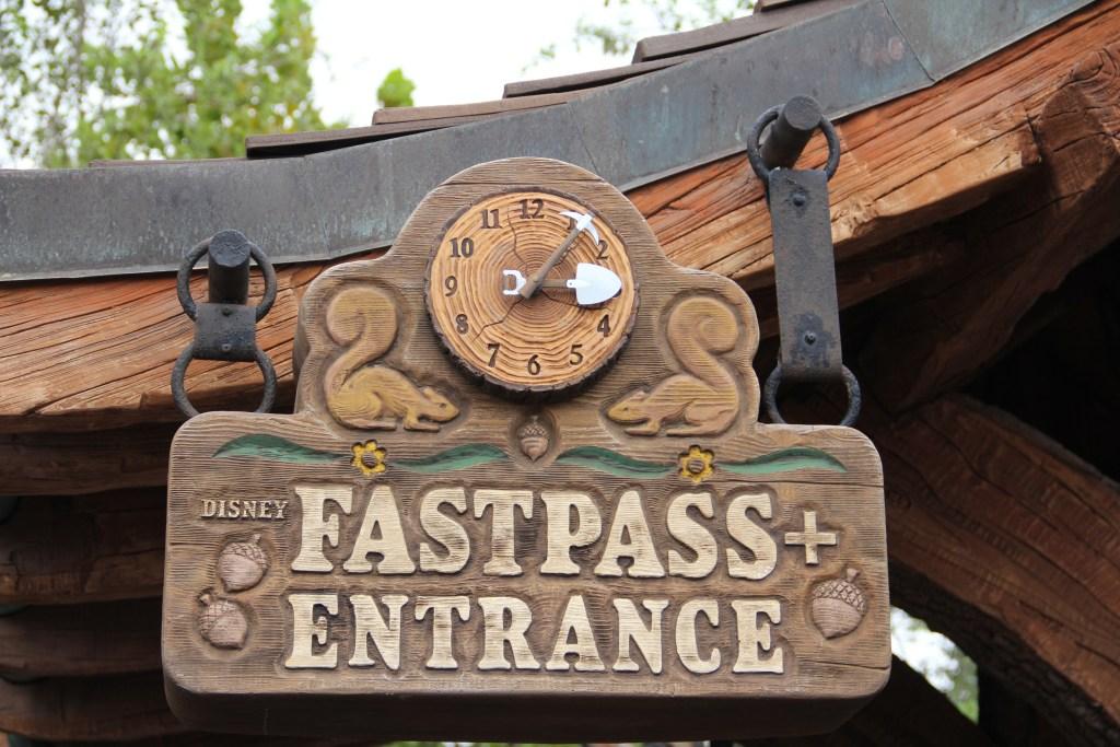 Seven Dwarfs Mine Train FastPass Sign