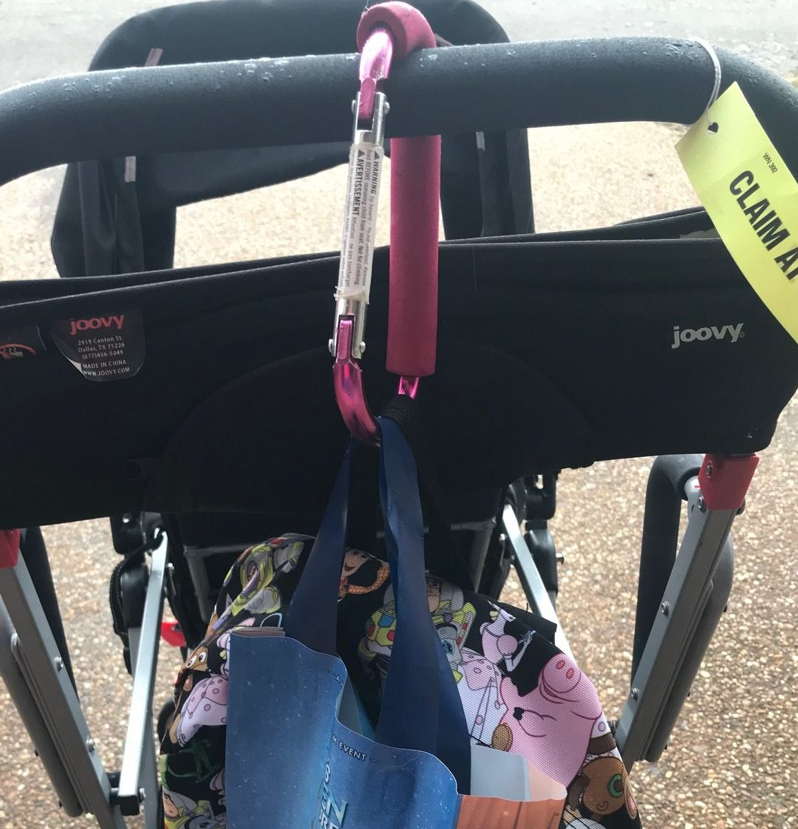 Stroller with Carabiner