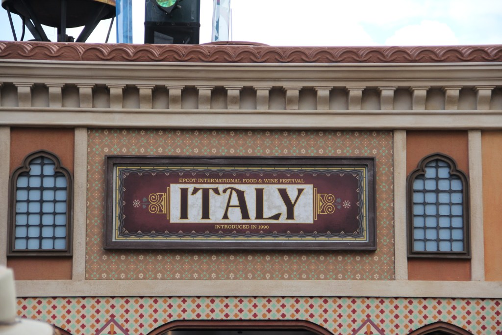Italy Pavilion Sign at Epcot