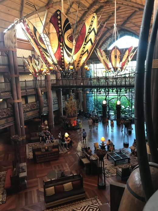 animal kingdom lobby from above