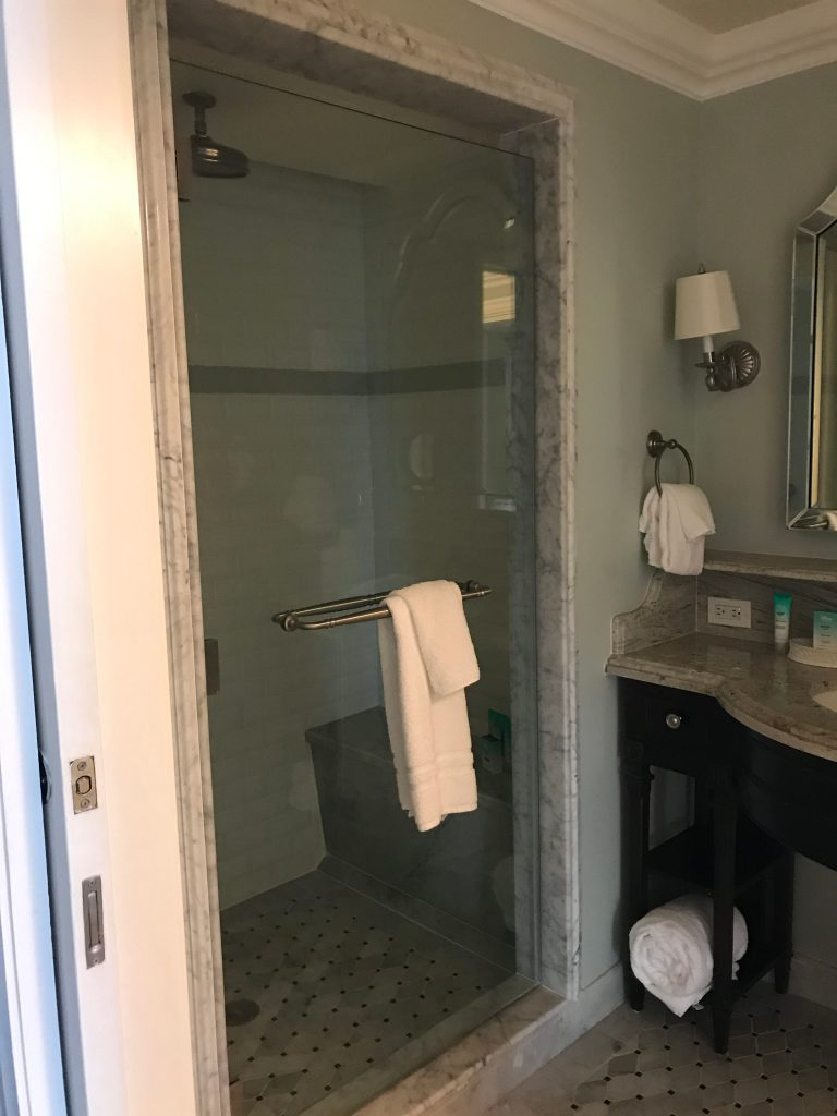 Rain Shower in Grand Floridian Studio Villa