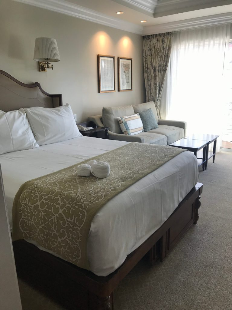 Bed and Couch in Grand Floridian DVC Studio Villa