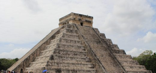 portrait view of chichen itza