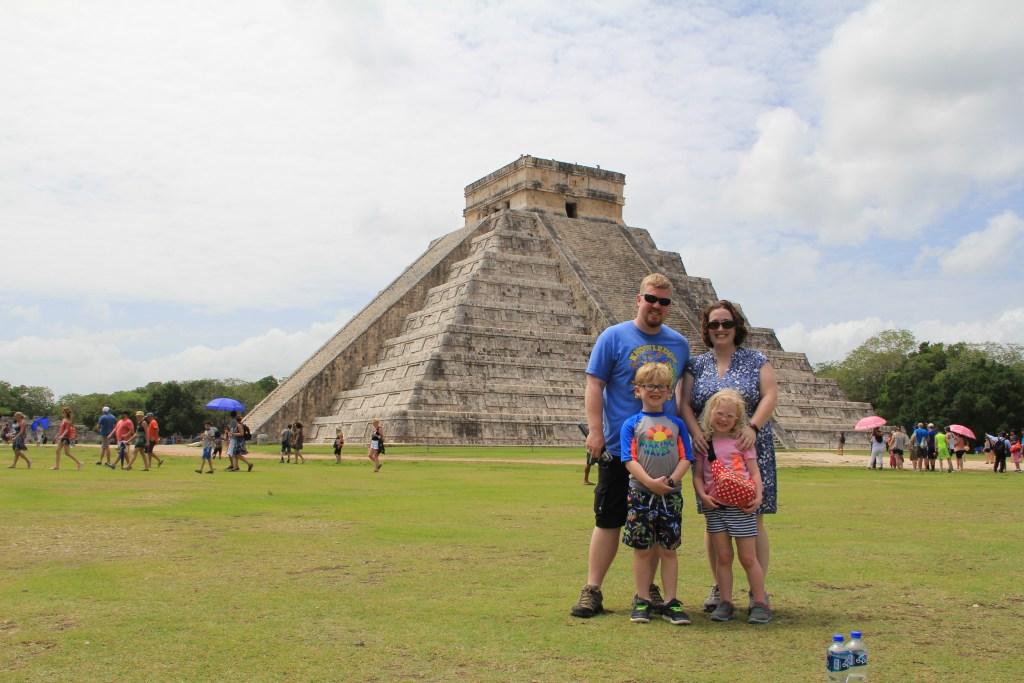 Family Picture Chichen Itza