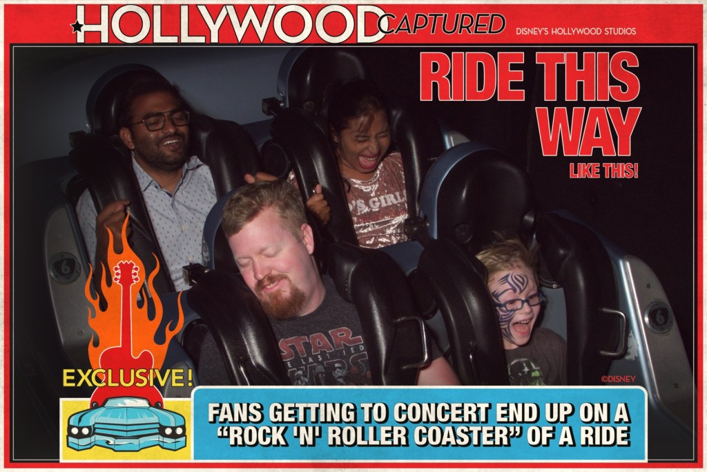 Riding Rock N Roller Coaster with Dad