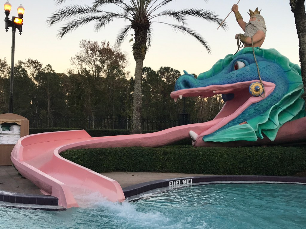 Water Slide at Port Orleans French Quarter Pool