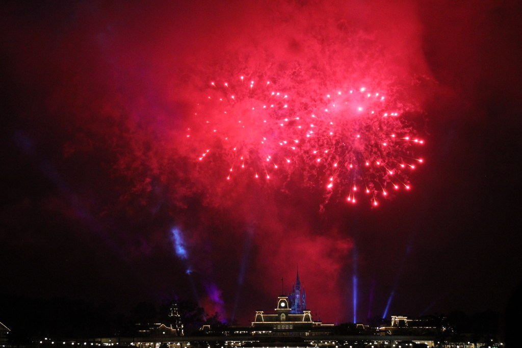 Pirates and Pals - Red Firework from Seven Seas Lagoon