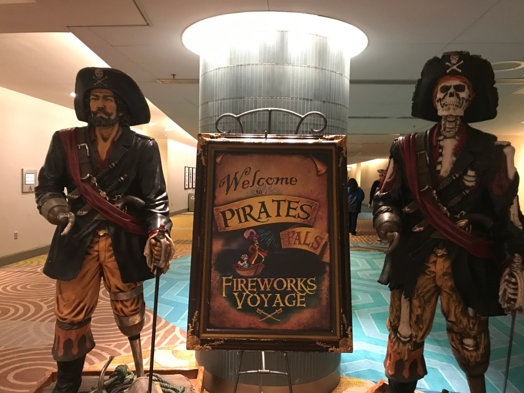 Pirates and Pals - Pirate Statues and Sign
