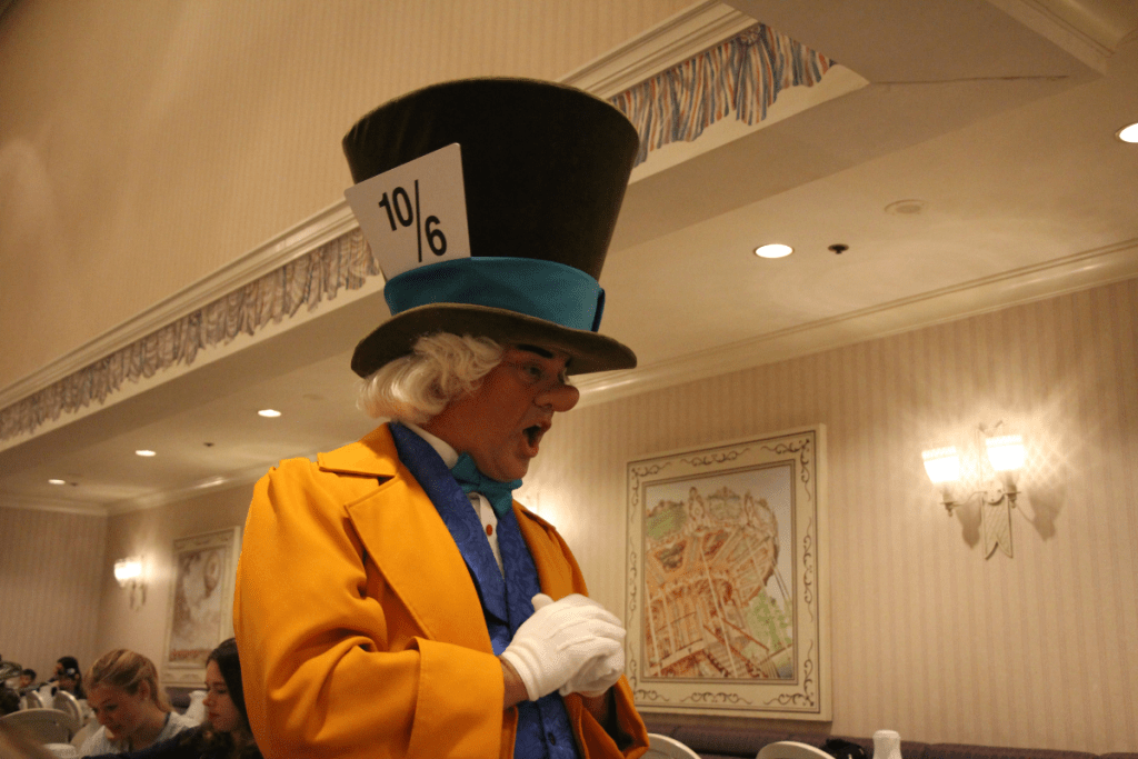 Mad Hatter at 1900 Park Fare Breakfast buffet