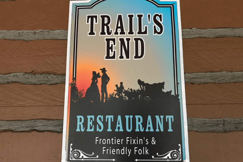 Trail's End Sign Fort Wilderness