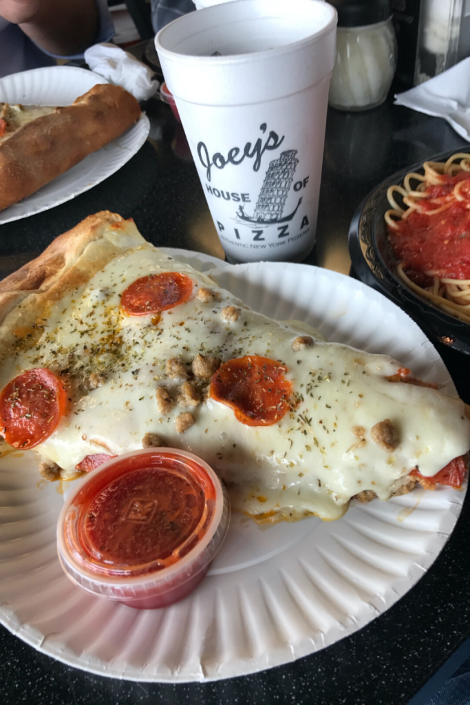 Joey's House of Pizza plate