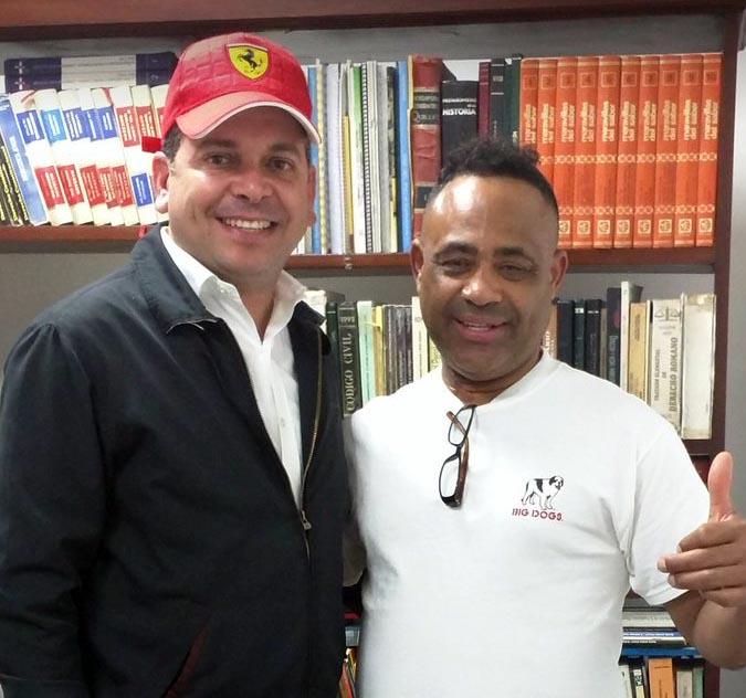 Foto Papito Cruz con Patico Polanco