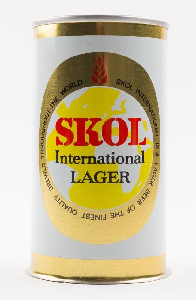 Skol International lager, primera cerveza enlatada en España