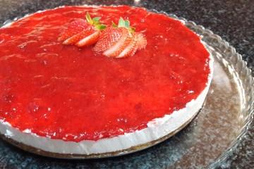 Receita de Cheesecake de Morango