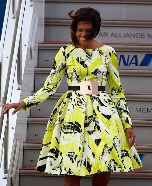 tokio michelle obama vestido