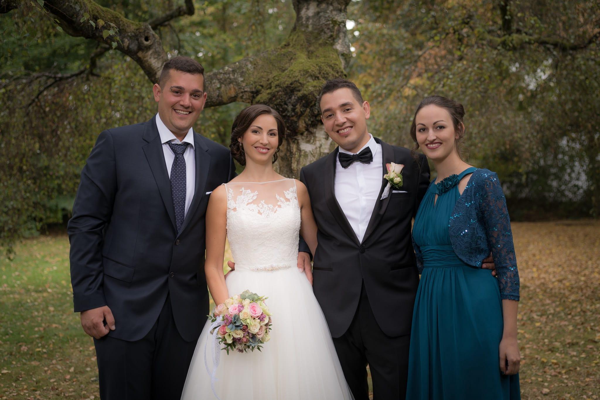 Brautpaarshooting mit Trauzeugen