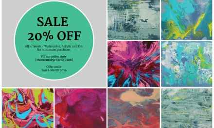 March 2016 ART SALE 20% OFF – Watercolor, Abstract and Oil Paintings