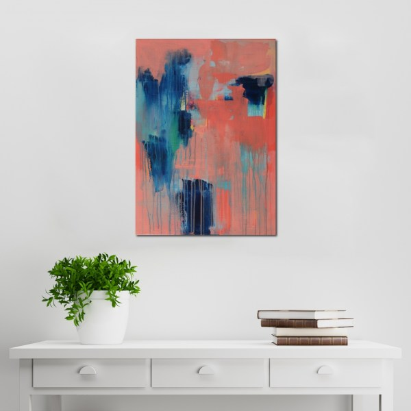 Abstract Acrylic Canvas Art - Phthalo Love by Charlie Albright | Moments by Charlie | Creative Abstract Artist, Photographer and Blogger | Made in Adelaide, Australia