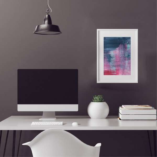 Abstract Fine Art Print - Pink Denim 1 by Charlie Albright | Moments by Charlie | Creative Abstract Artist, Photographer and Blogger | Made in Adelaide, Australia