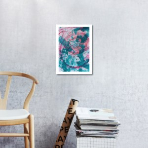 Abstract Acrylic Art On Paper - Render Me Special 4 by Charlie Albright | Moments by Charlie | Creative Abstract Artist, Photographer and Blogger | Made in Adelaide, Australia