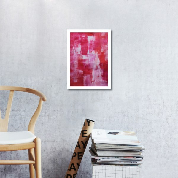 Abstract Acrylic Art On Paper - Self Love 2 by Charlie Albright | Moments by Charlie | Creative Abstract Artist, Photographer and Blogger | Made in Adelaide, Australia