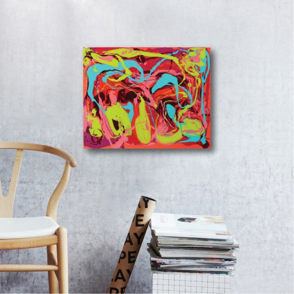 Abstract Acrylic Canvas Art - Street Fair by Charlie Albright | Moments by Charlie | Creative Abstract Artist, Photographer and Blogger | Made in Adelaide, Australia