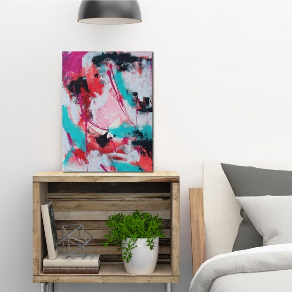 Abstract Acrylic Canvas Art - The Journey - Movement Collection by artist Charlie Albright | Moments by Charlie | Creative Visual Artist, Photographer and Blogger | Made in Adelaide, Australia