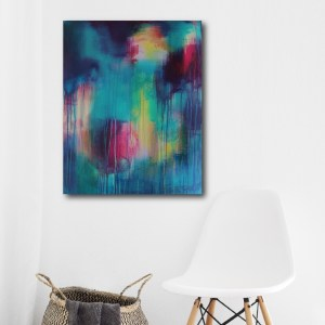Abstract Art Titled Blessing In Disguise By Creative Visual Artist Charlie Albright   SALA 2018 Collection - Chasing Dancing Colours   Moments by Charlie Online Shop   Adelaide, South Australia
