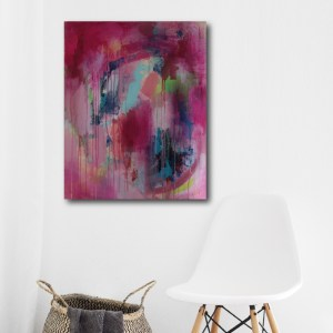 Abstract Art Titled Share What You Love By Creative Visual Artist Charlie Albright | SALA 2018 Collection - Chasing Dancing Colours | Moments by Charlie Online Shop | Adelaide, South Australia