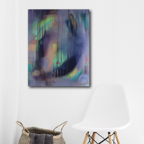Abstract Art Titled Where You Want To Be By Creative Visual Artist Charlie Albright | SALA 2018 Collection - Chasing Dancing Colours | Moments by Charlie Online Shop | Adelaide, South Australia