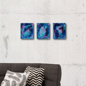 Abstract Canvas Art Titled Make It Worth The Journey [SET OF 3] By Creative Visual Artist Charlie Albright | Glenside Art Show 2018 - Mini Exhibition - Where There's A Will, There's A Way | Moments by Charlie Online Shop | Adelaide, South Australia