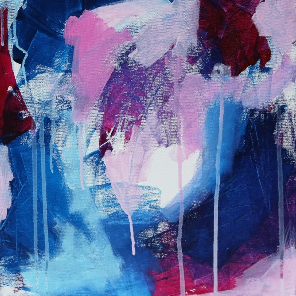 Abstract Canvas Art Titled Hearty Heart By Creative Visual Artist Charlie Albright | Glenside Art Show 2018 - Mini Exhibition - Where There's A Will, There's A Way | Moments by Charlie Online Shop | Adelaide, South Australia