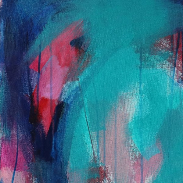 Abstract Canvas Art Titled There's Always A Path By Creative Visual Artist Charlie Albright | Glenside Art Show 2018 - Mini Exhibition - Where There's A Will, There's A Way | Moments by Charlie Online Shop | Adelaide, South Australia