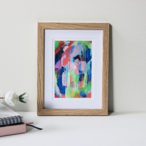 "Framed Art Print Titled On The Path By Creative Visual Artist Charlie Albright | Natural Oak Frame 6"" x 8"" Mount 4"" x 6"" 