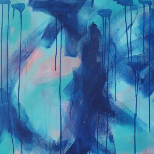 Abstract Canvas Art Titled Summer Rain Dance By Creative Visual Artist Charlie Albright | Moments by Charlie Blog - Online Shop - Creative Freelance Services | Adelaide, South Australia