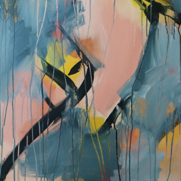"Abstract Canvas Art Titled Yearning For Change By Adelaide Artist Charlie Albright | Canvas Size 20"" x 30"" 
