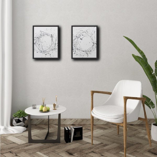 Set of 2 - Minimalism Abstract Framed Art Titled Grey Flow By Creative Visual Artist Charlie Albright | Moments by Charlie Blog - Online Shop - Creative Freelance Services | Adelaide, South Australia