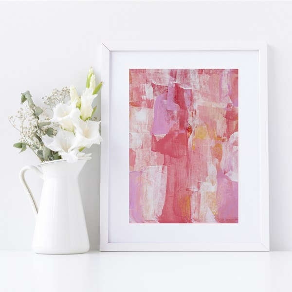 Abstract Fine Art Giclee Print Titled Lollipop Play 2 in Size A4 | By Adelaide Abstract Artist Charlie Albright | Moments by Charlie Blog - Online Shop - Creative Freelance Services | Adelaide, South Australia