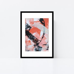 Abstract Art Framed Original On Art Paper Titled In The Shadows 3 | By Adelaide Abstract Artist Charlie Albright | Moments by Charlie Blog - Online Shop - Creative Freelance Services | Adelaide, South Australia