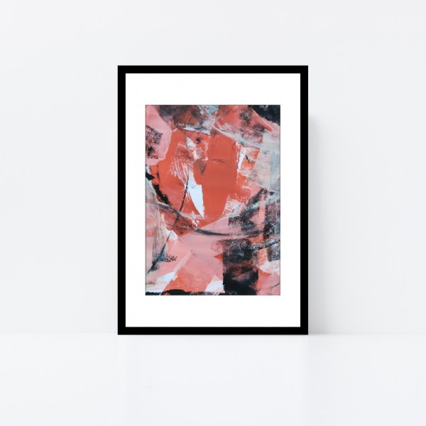Abstract Art Framed Original On Art Paper Titled In The Shadows 4 | By Adelaide Abstract Artist Charlie Albright | Moments by Charlie Blog - Online Shop - Creative Freelance Services | Adelaide, South Australia