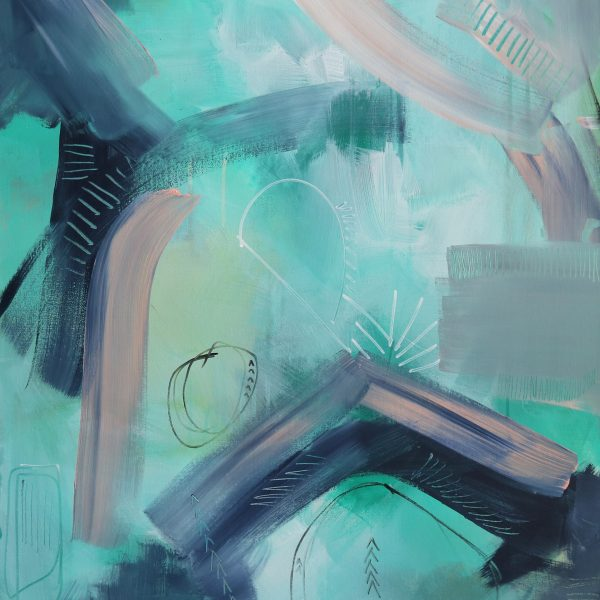 """Abstract Canvas Art Titled On The Horizon By Adelaide Abstract Artist Charlie Albright 